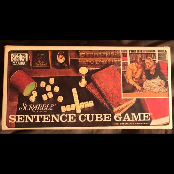 Vintage 1970 - Scrabble Brand Sentence Board Game